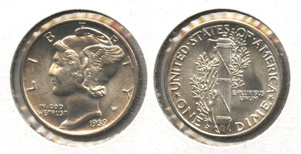 1939-D Mercury Dime MS-63 #i
