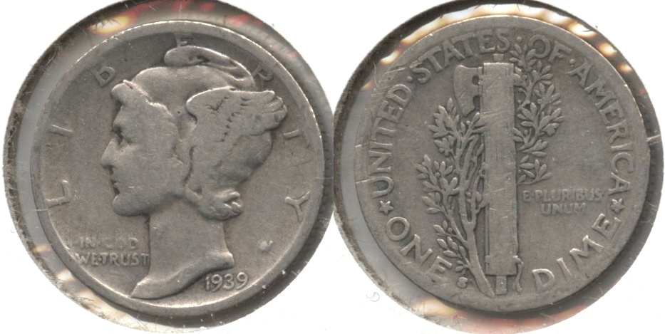 1939-S Mercury Dime Good-4 #c