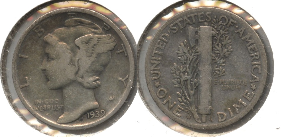 1939-S Mercury Dime Good-4 #d