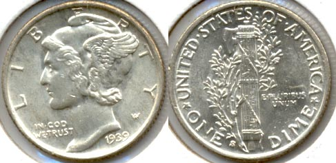 1939-S Mercury Dime MS-60