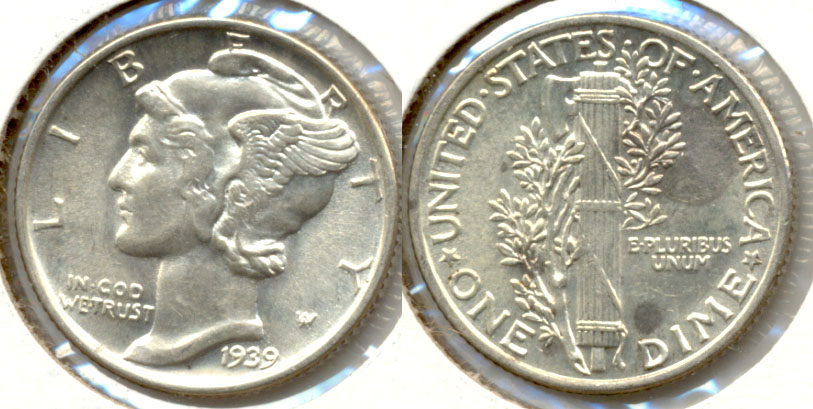 1939 Mercury Dime MS-63 b