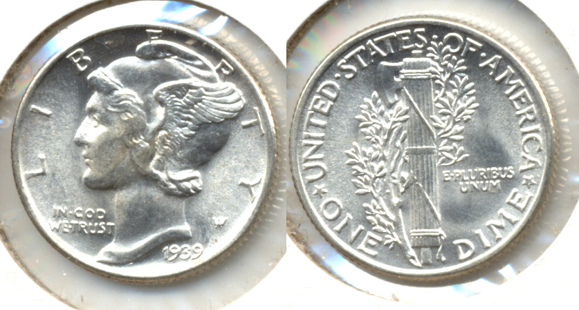 1939 Mercury Dime MS-64 c