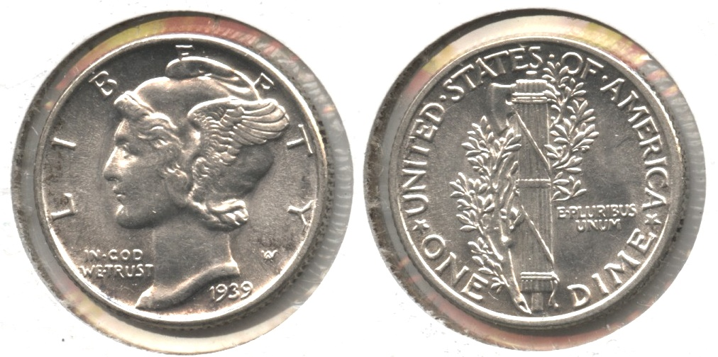 1939 Mercury Dime MS-64 #n