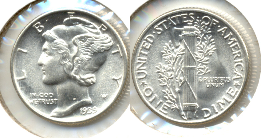 1939 Mercury Dime MS-65