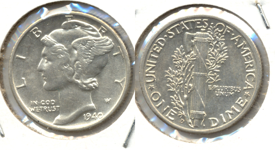 1940-D Mercury Dime MS-60