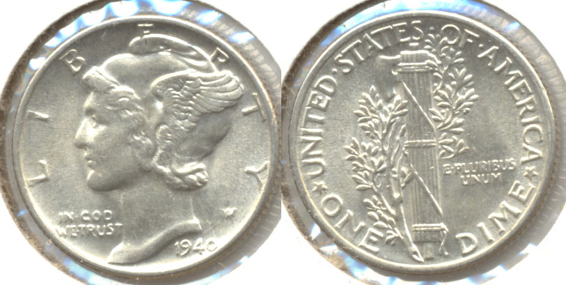 1940 Mercury Dime MS-60 a
