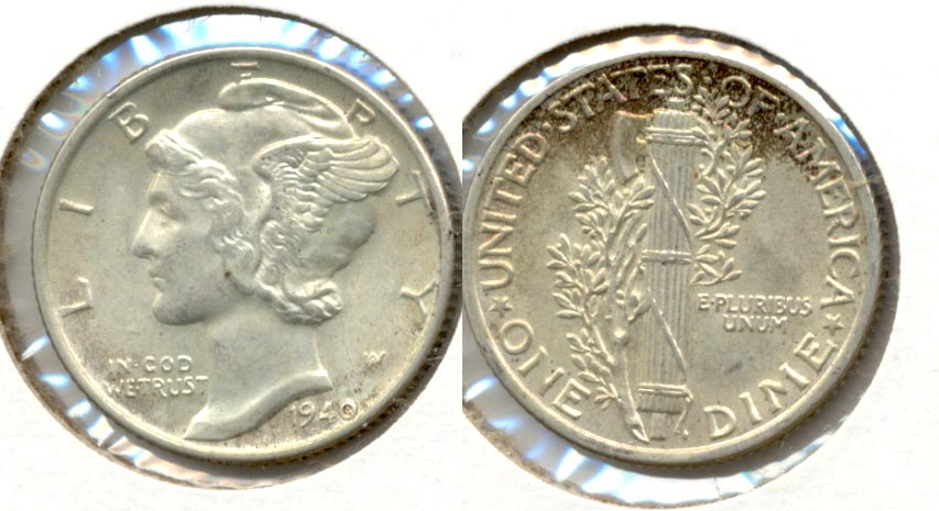 1940 Mercury Dime MS-60 c