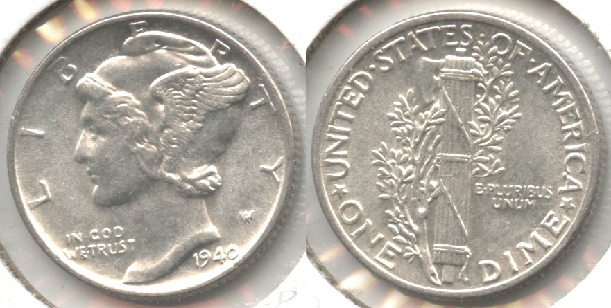 1940 Mercury Dime MS-63 #c