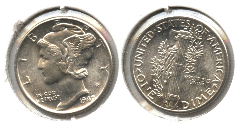 1940 Mercury Dime MS-64 #a