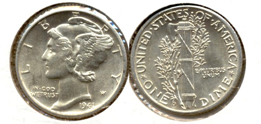 1941-D Mercury Dime MS-60 i