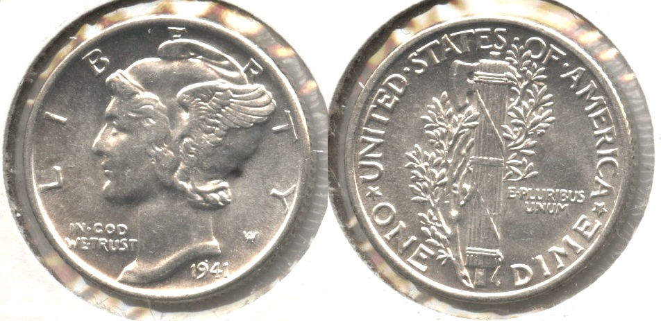 1941 Mercury Dime MS-60 #q