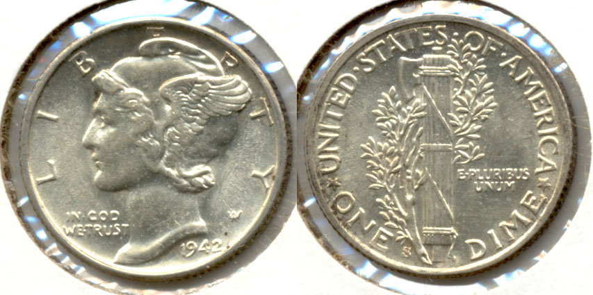 1942-S Mercury Dime MS-60 a