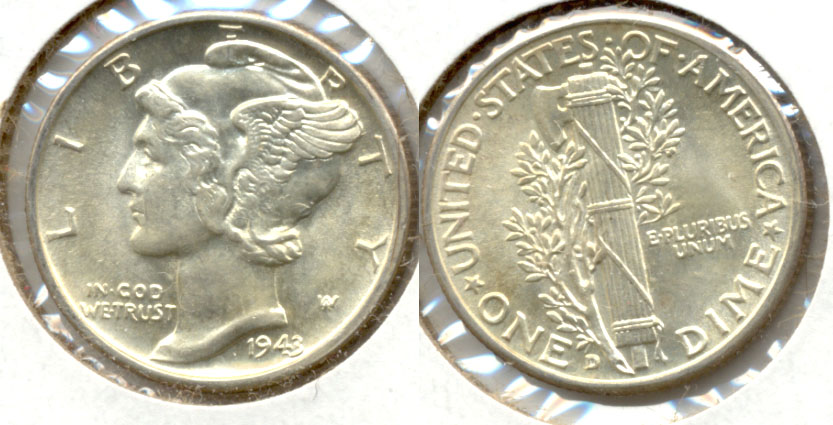 1943-D Mercury Dime MS-63 a
