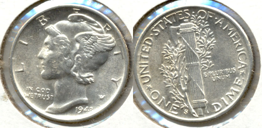 1943-S Mercury Dime MS-60 h