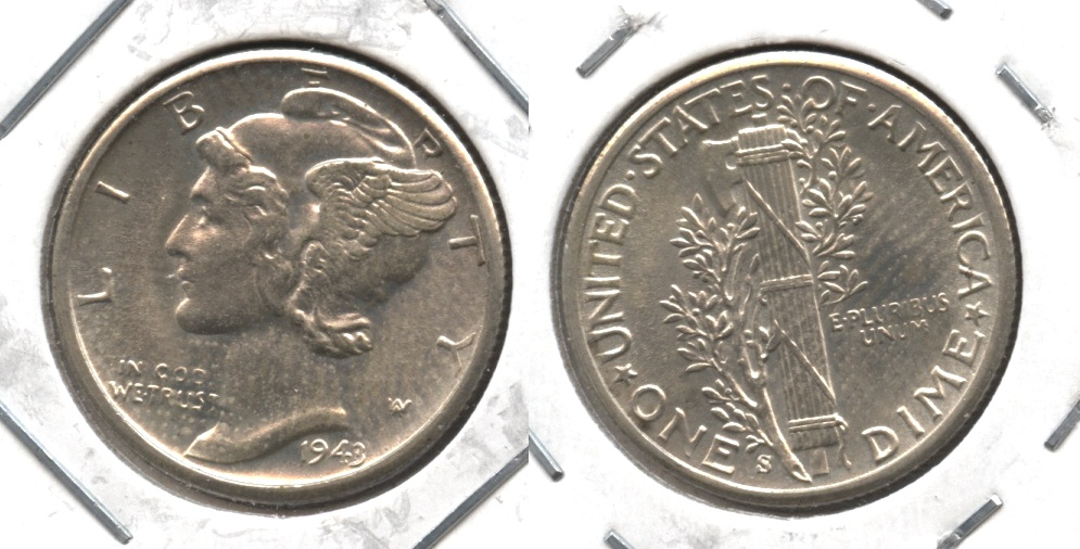 1943-S Mercury Dime MS-64 #b