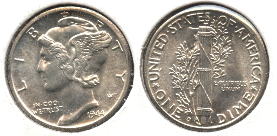 1944-D Mercury Dime MS-60 #j