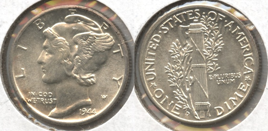 1944-D Mercury Dime MS-60 #o