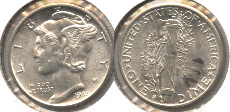 1944-S Mercury Dime MS-60 #m