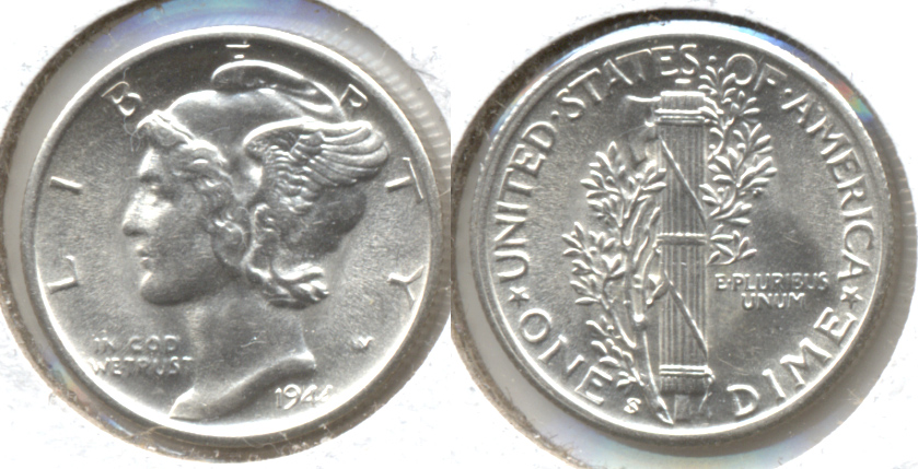 1944-S Mercury Dime MS-63 j
