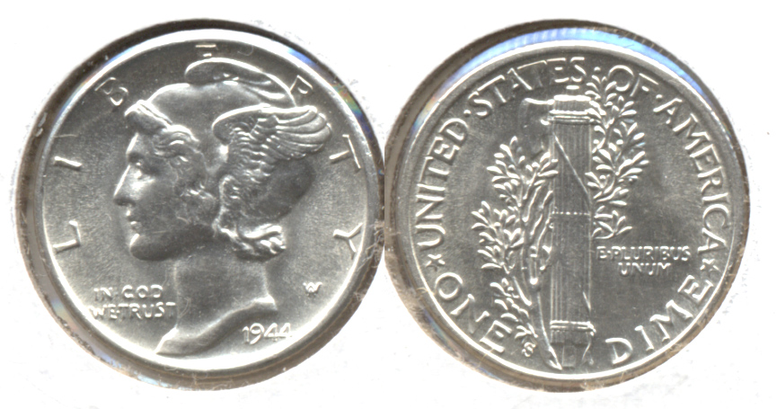 1944-S Mercury Dime MS-64 d
