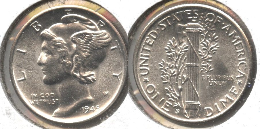 1945-S Mercury Dime MS-63 #ab