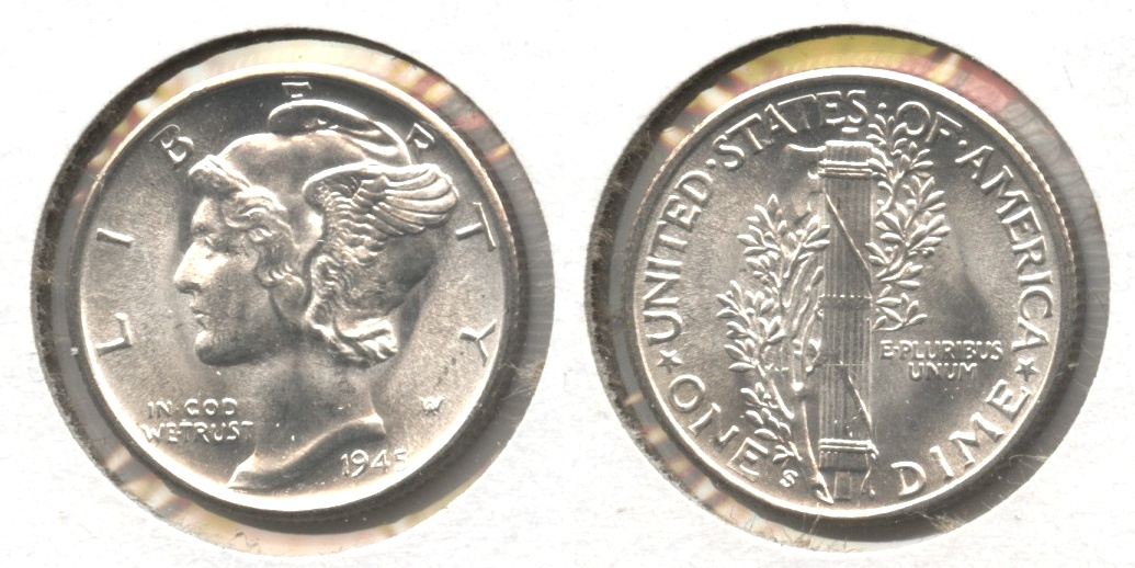 1945-S Mercury Dime MS-63 #aw