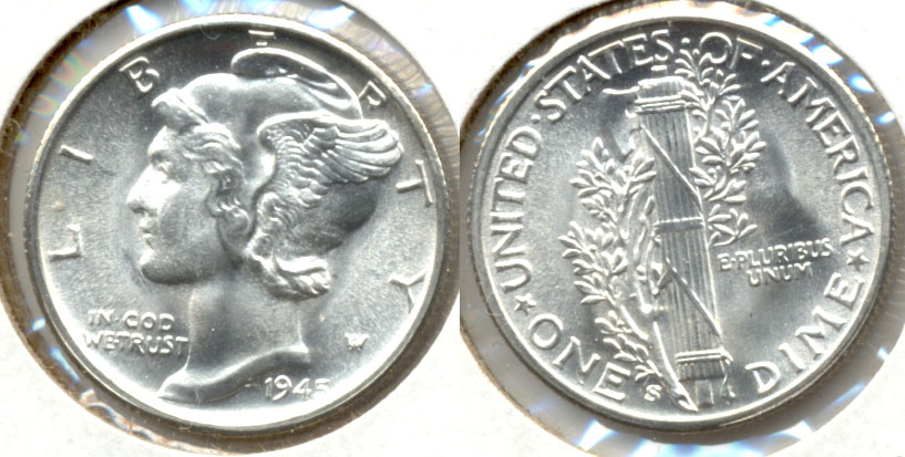 1945-S Mercury Dime MS-64 a