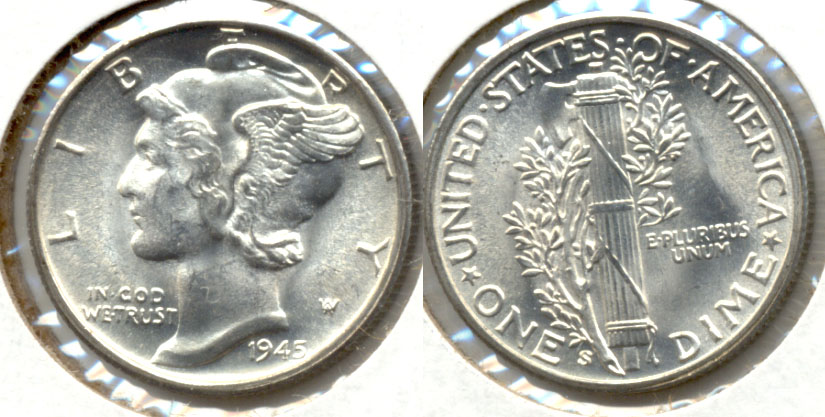 1945-S Mercury Dime MS-64 i
