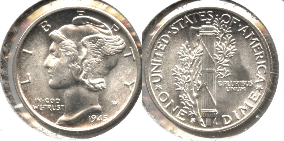 1945-S Mercury Dime MS-64 o