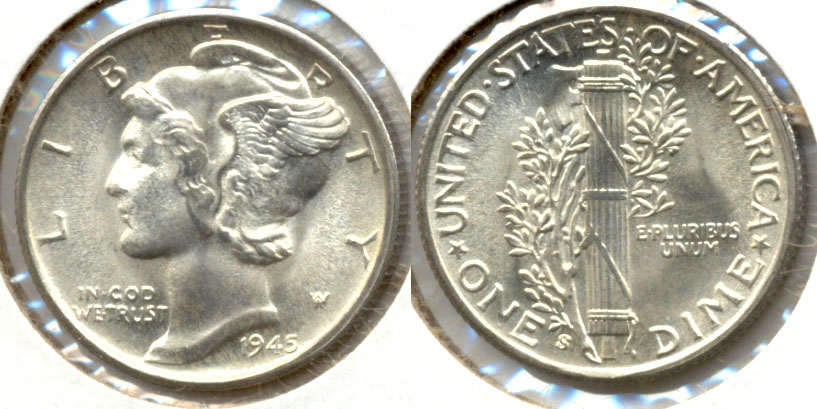 1945-S Mercury Dime MS-65 c