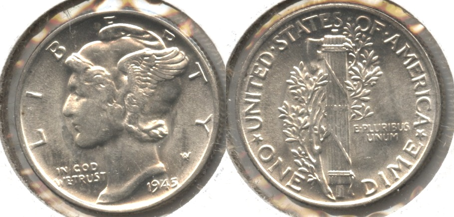 1945 Mercury Dime MS-60 #j