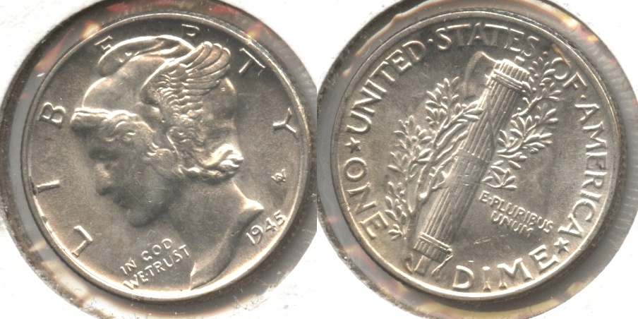 1945 Mercury Dime MS-60 #p