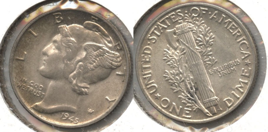 1945 Mercury Dime MS-60 #v