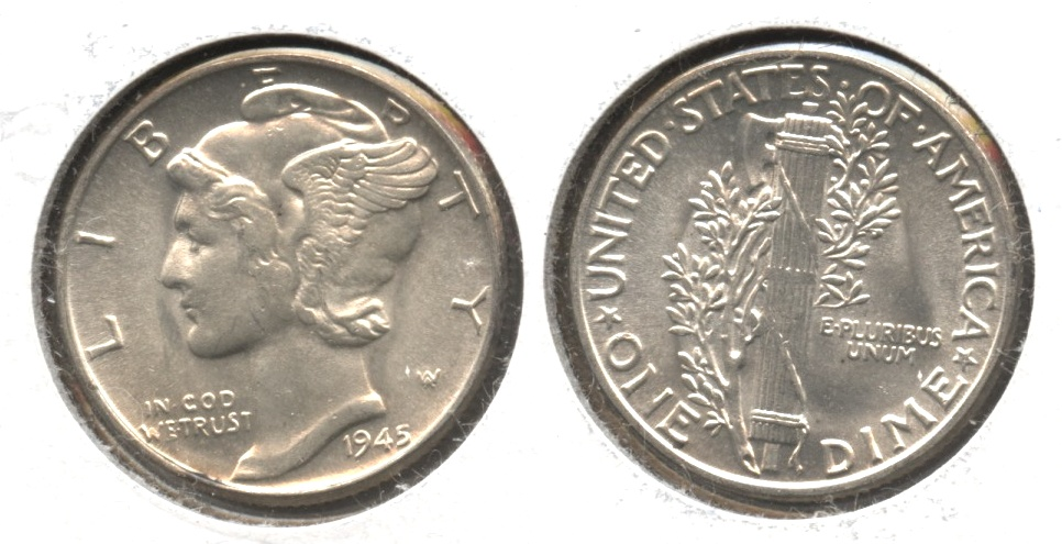 1945 Mercury Dime MS-63 #ab
