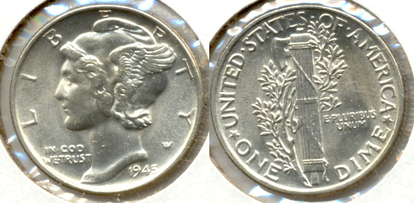 1945 Mercury Dime MS-63 q