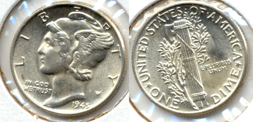 1945 Mercury Dime MS-63 t