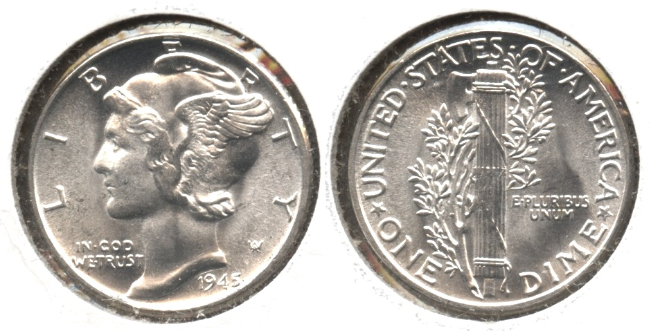 1945 Mercury Dime MS-64 #k