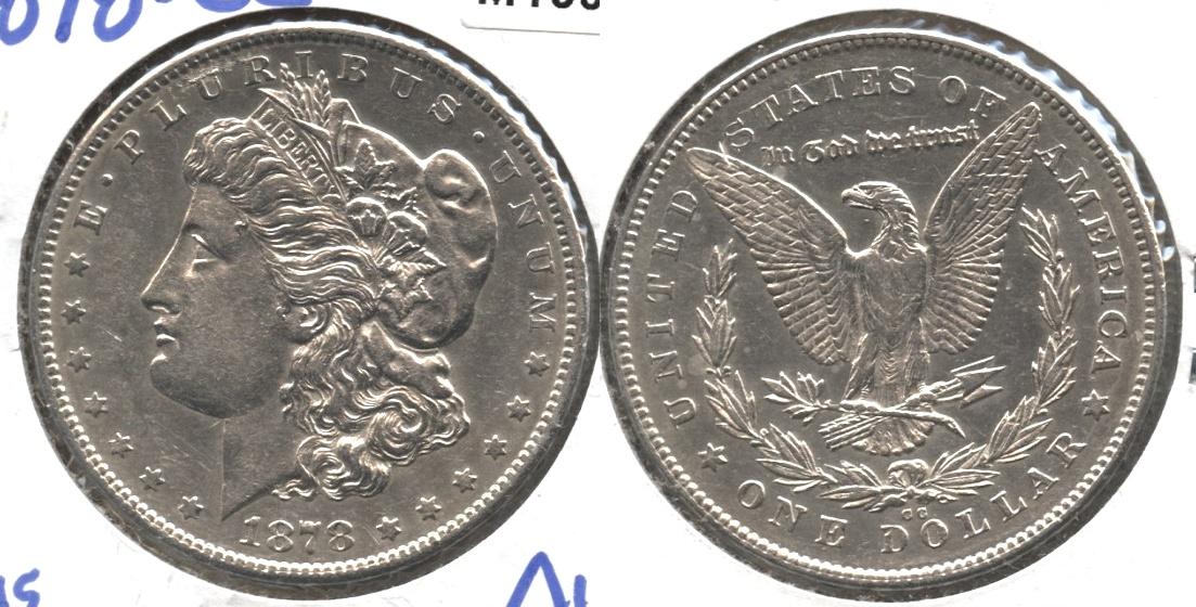 1878-CC Morgan Silver Dollar AU-50