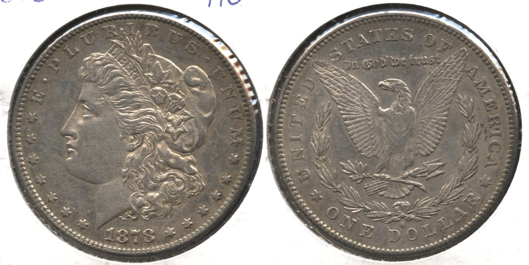 1878-S Morgan Silver Dollar AU-50 #i