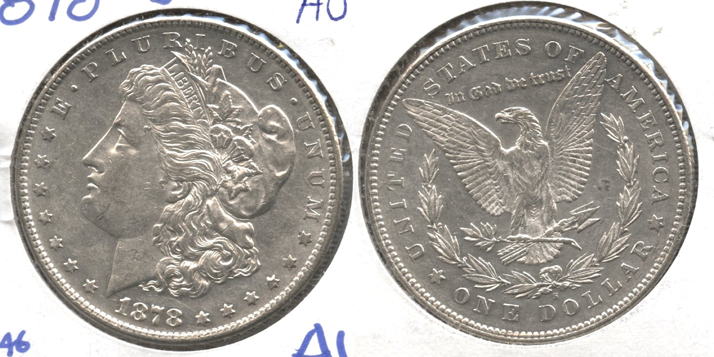 1878-S Morgan Silver Dollar AU-50 #n