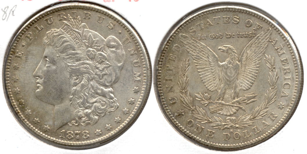 1878-S Morgan Silver Dollar EF-40 b