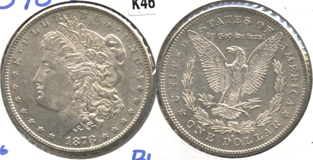 1878-S Morgan Silver Dollar MS-60 j