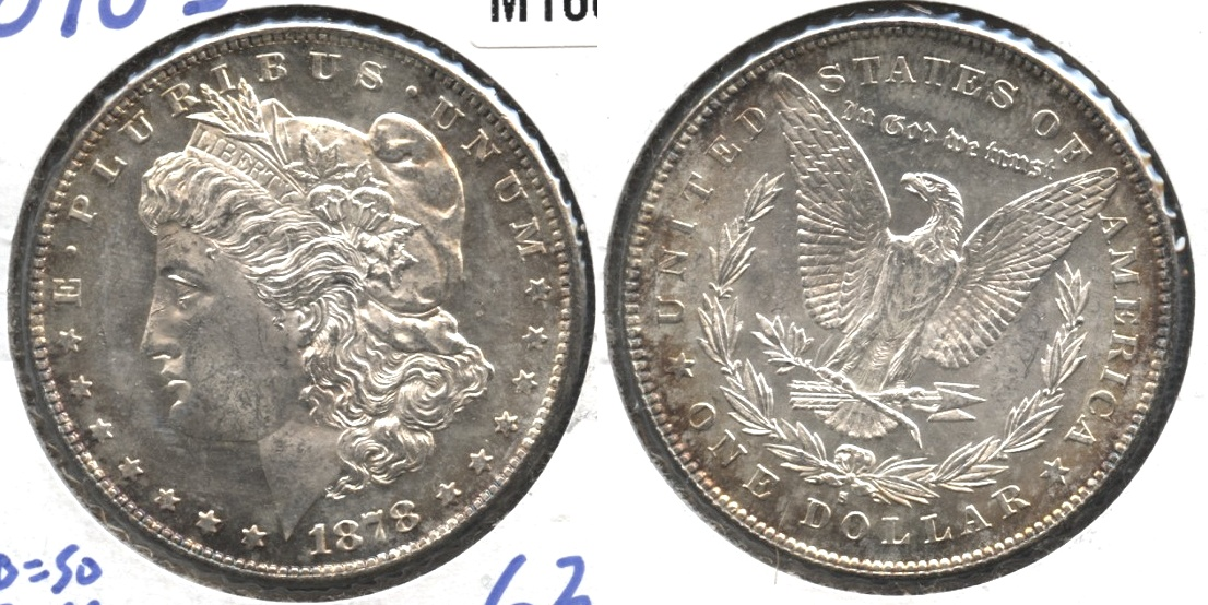 1878-S Morgan Silver Dollar MS-63 #i