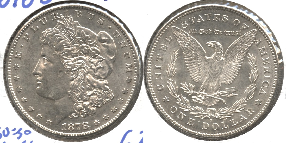 1878-S Morgan Silver Dollar MS-63 #k