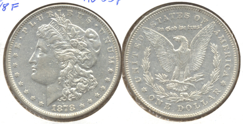 1878 Morgan Silver Dollar 7 over 8 Tailfeathers AU-53
