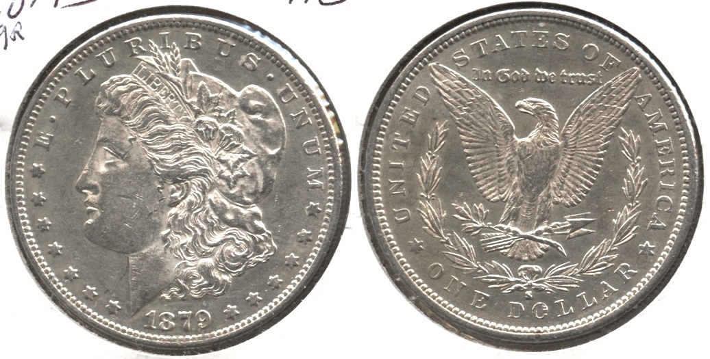 1879-S Morgan Silver Dollar AU-50 a