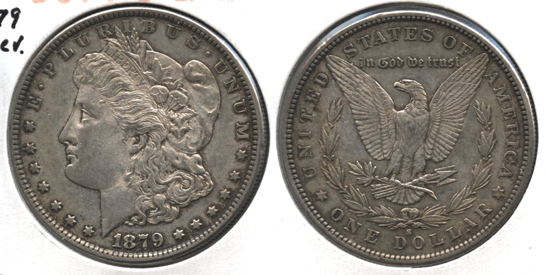 1879-S Morgan Silver Dollar EF-45 #e