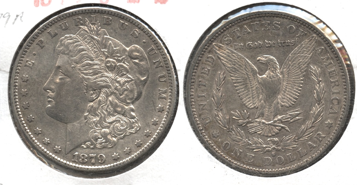 1879-S Morgan Silver Dollar EF-45 #g