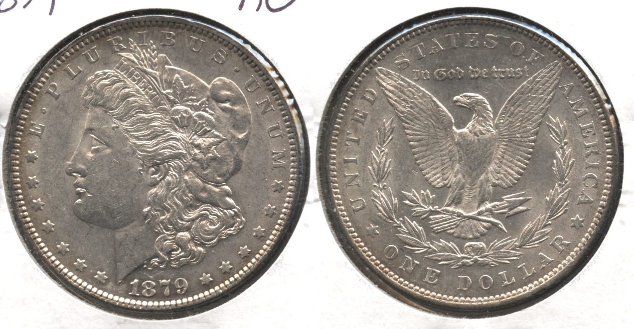 1879 Morgan Silver Dollar AU-50 #b