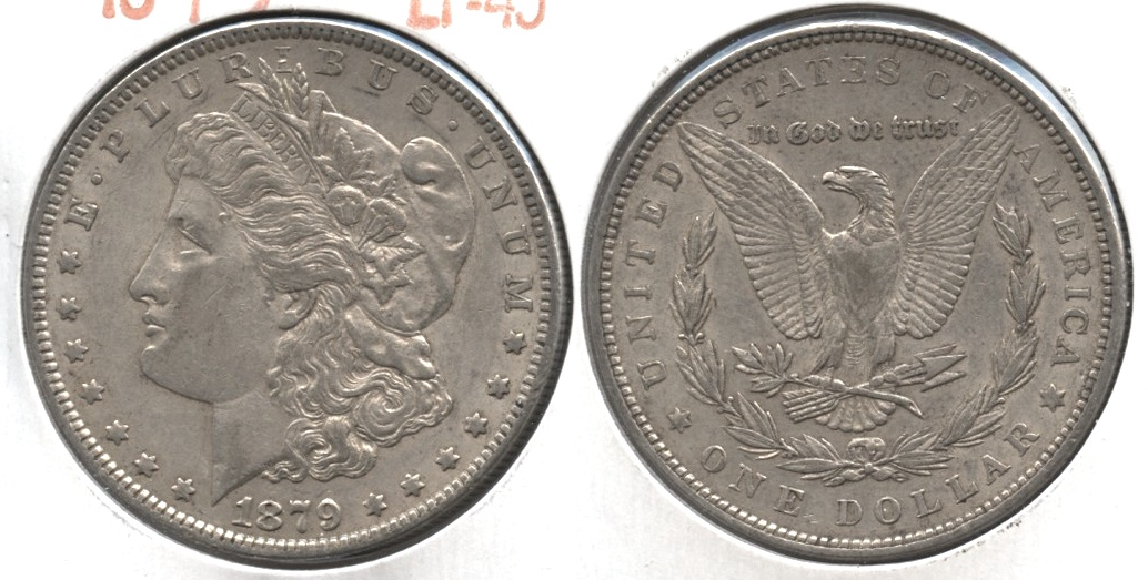 1879 Morgan Silver Dollar EF-45 #a